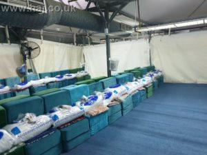 Hajj 2019 Mina tent empty